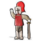 Kreslený středověký rytíř — Stock vektor