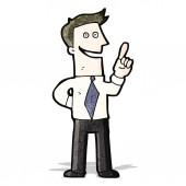 Cartoon man with idea — Stock Vector