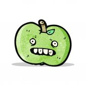 Funny apple cartoon character — Stock Vector