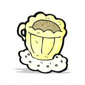 Cartoon dainty tea cup — Stock Vector