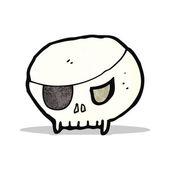 Cartoon pirate skull symbol — Stok Vektör