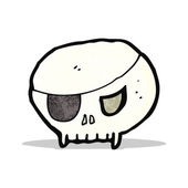 Cartoon pirate skull symbol — Wektor stockowy