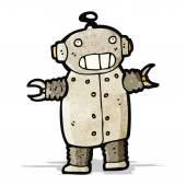 Cartoon dancing robot — Stock Vector