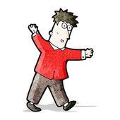 Cartoon man balancing man — Stock Vector