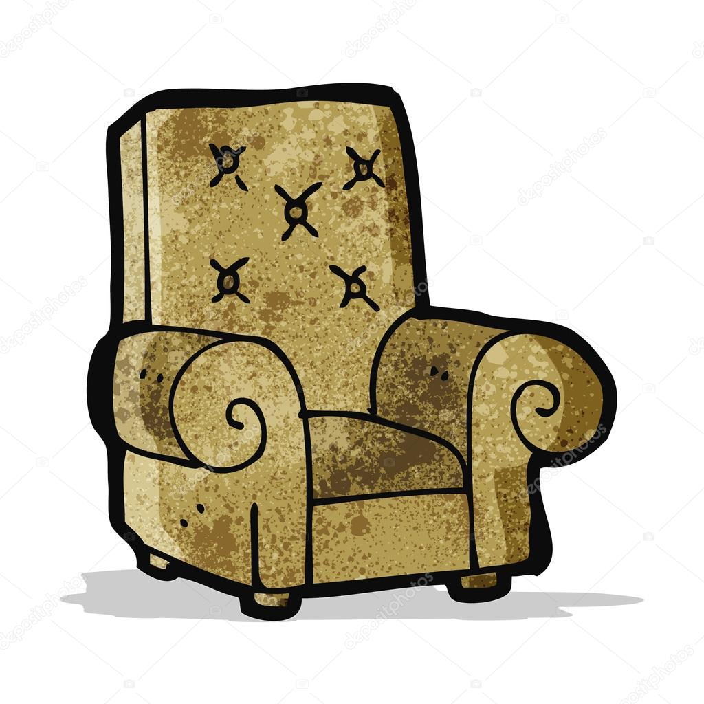Chaise en cuir de dessin anim image vectorielle for Chaise dessin