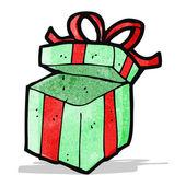 κινούμενα σχέδια χριστουγεννιάτικο δώρο — Διανυσματικό Αρχείο
