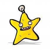 Cartoon christmas star bauble — Stock Vector