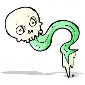 ακαθάριστο κρανίο κινουμένων σχεδίων — Διανυσματικό Αρχείο