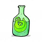 Cartoon snake in bottle — ストックベクタ