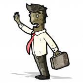 Cartoon businessman in a rush — Stock Vector