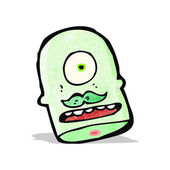 Cartoon cyclops head — Stock Vector