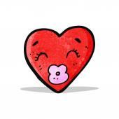 αγάπη καρδιά χαρακτήρα κινουμένων σχεδίων — Διανυσματικό Αρχείο