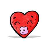 Love heart cartoon character — Stock Vector