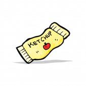 Ketchup packet cartoon — Stock Vector
