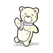 Cartoon little polar bear — Stock Vector
