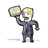 Cartoon stressed businessman — Stock vektor