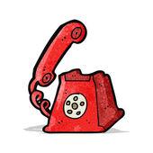 漫画レトロ電話 — ストックベクタ