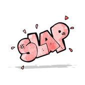 Cartoon slap symbol — Stock Vector
