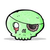 Kreslený strašidelné pirátská lebka — Stock vektor