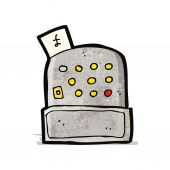 Cartoon cash register illustration — Stock vektor