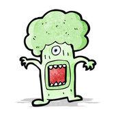 Cartoon monster brocolli — Stock Vector