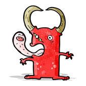 Cartoon gross little devil — Stock Vector