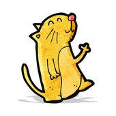Cartoon waving cat — Stock Vector