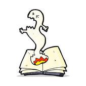 Cartoon haunted spell book — Stock Vector