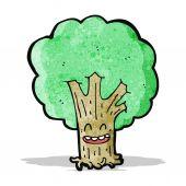 Baum-Cartoon-Figur — Stockvektor