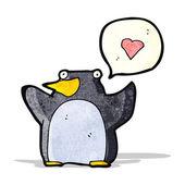 Pingüinos divertidos dibujos animados — Vector de stock
