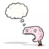 Brain cartoon character — Stock Vector