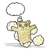 Teddy bear with thougth bubble cartoon — Stock Vector