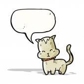 Cartoon little cat — Stock Vector