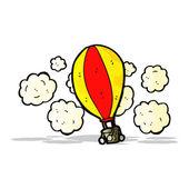 Dibujos animados de globo de aire caliente — Vector de stock