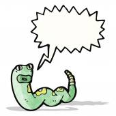 Kreskówka syczący węża — Wektor stockowy