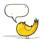 Canto do pássaro dos desenhos animados — Vetor de Stock