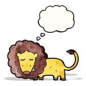 Lion with thought bubble cartoon — Stock Vector