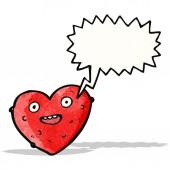 Kreskówka śmieszne miłości serca — Wektor stockowy