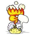 Lotus flower with speech bubble cartoon — Stock Vector #61143269