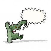 Roaring monster cartoon — Stock Vector