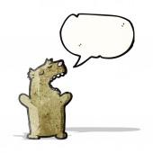 Cartoon talking bear — Stock Vector