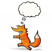 Cartoon fox chasing — Stock Vector