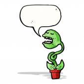 Venus fly trap cartoon character — Stock Vector