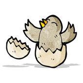 Cartoon hatching baby bird — Stock Vector