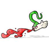 Snake bite cartoon — Stock Vector