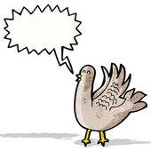 Cartoon bird flapping wings — Stock Vector