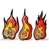 Flaming meteor cartoon — Stock Vector