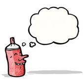 Spray can cartoon character — Stock Vector