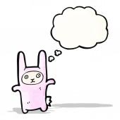 Costume de lapin de dessin animé — Vecteur