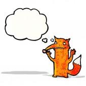 Dibujos animados de fox feliz — Vector de stock